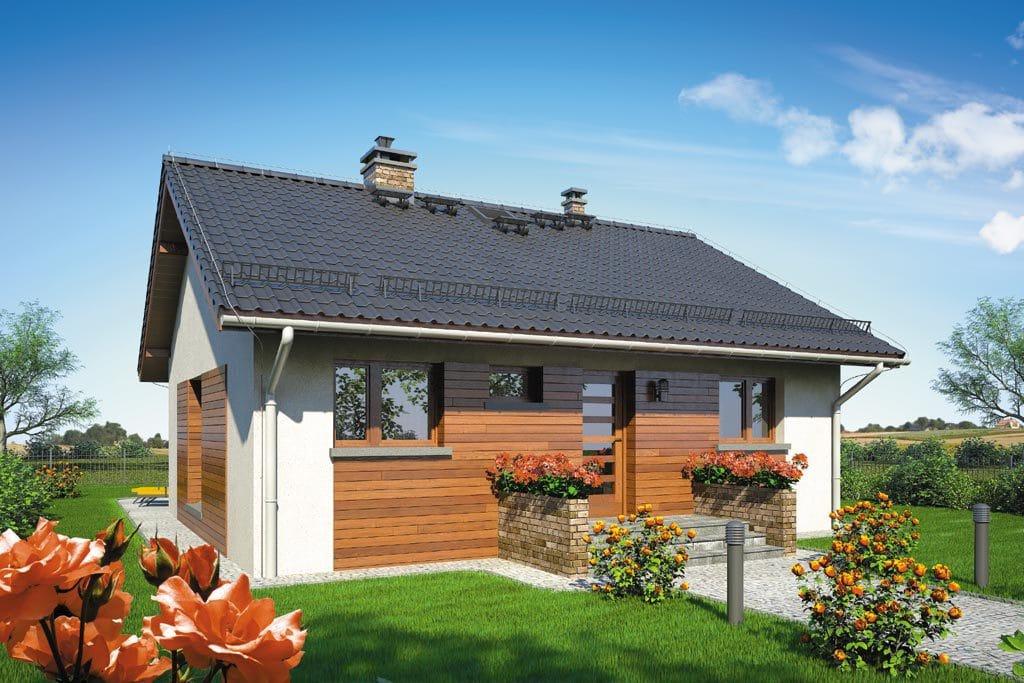 Проект одноэтажного дома с террасой «КО-105» - фото №1