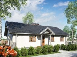 Проект одноэтажного дома с террасой «КО-107»
