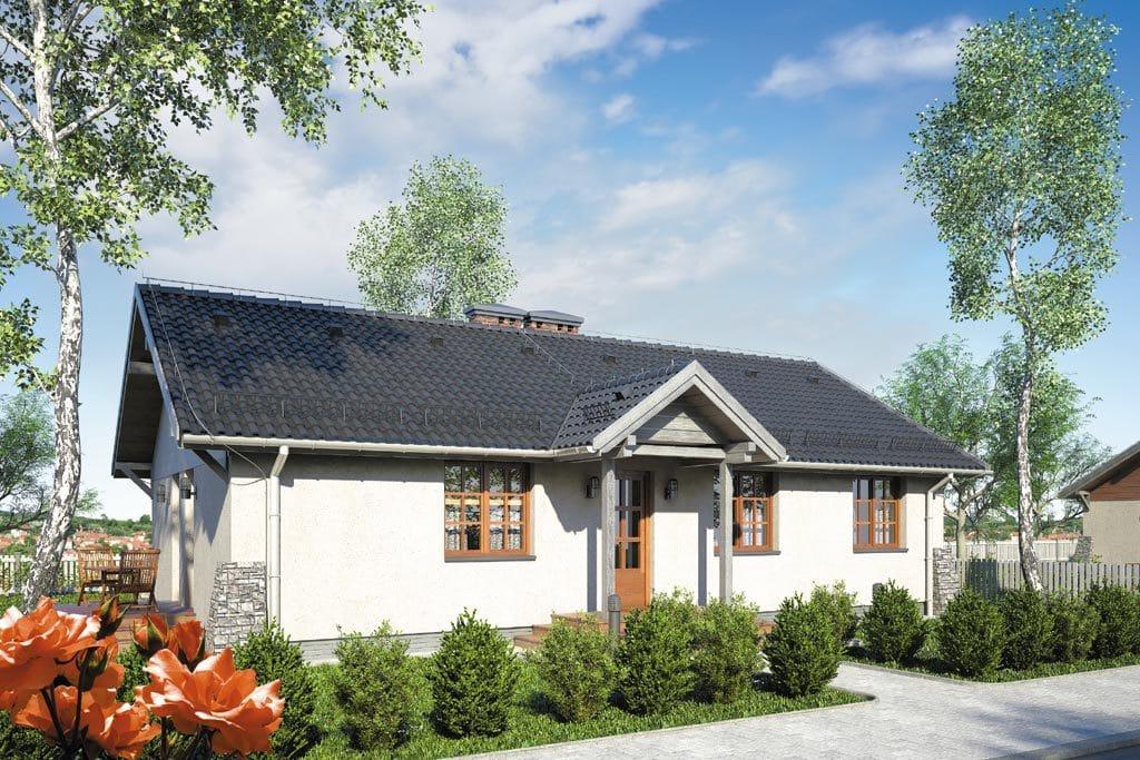 Проект одноэтажного дома с террасой «КО-107» - фото №1