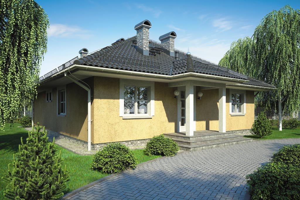 Проект одноэтажного дома с террасой «КО-111» - фото №1
