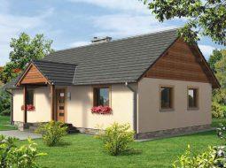 Проект одноэтажного дома с террасой «КО-113»