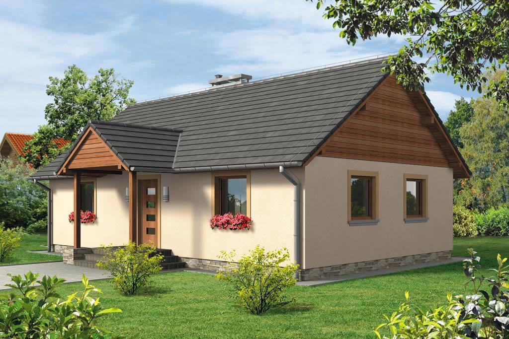 Проект одноэтажного дома с террасой «КО-113» - фото №1
