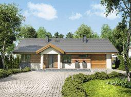 Проект одноэтажного дома с гаражом и террасой «КО-83»