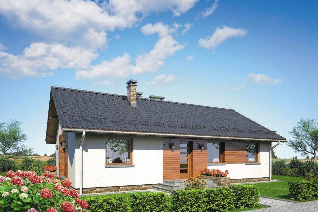 Проект одноэтажного дома с террасой «КО-87» - фото №1