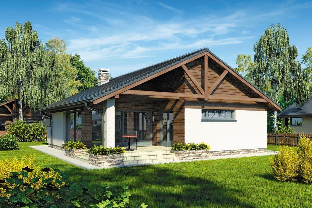 Проект одноэтажного дома с террасой «КО-89» - фото №2