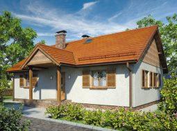 Проект одноэтажного дома с террасой «КО-94»
