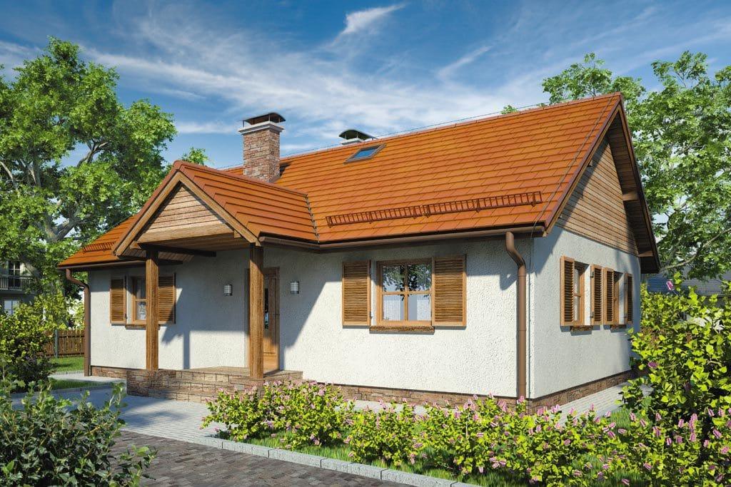 Проект одноэтажного дома с террасой «КО-94» - фото №1