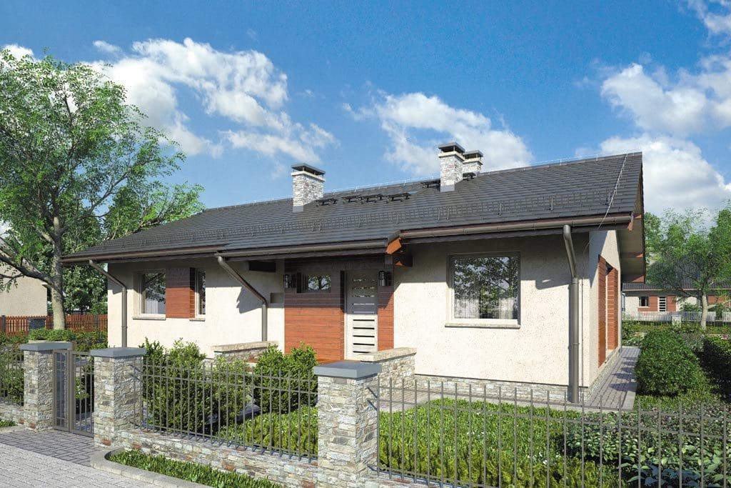 Проект одноэтажного дома с террасой «КО-93» - фото №1