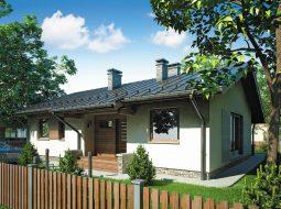Проект одноэтажного дома с террасой «КО-97»