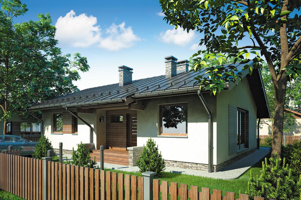Проект одноэтажного дома с террасой «КО-97» - фото №1