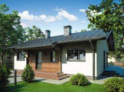 Проект одноэтажного дома с террасой «КО-99»