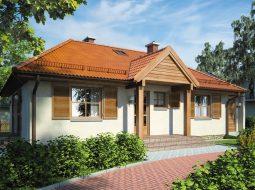 Проект одноэтажного дома с гаражом и террасой «КО-101»