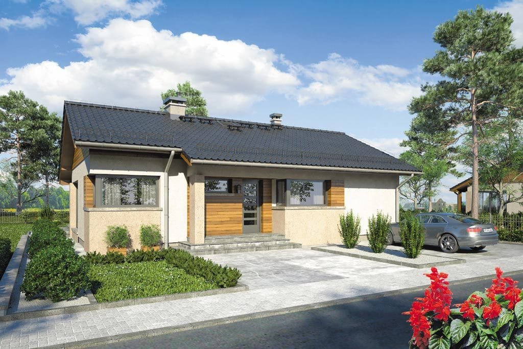 Проект одноэтажного дома с террасой «КО-102» - фото №1