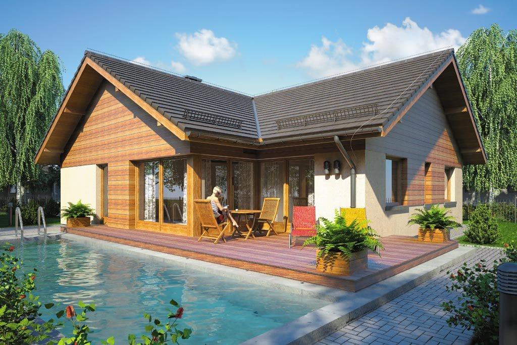 Проект одноэтажного дома с гаражом и террасой «КО-104» - фото №2