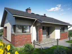 Проект одноэтажного дома с террасой «КО-106»