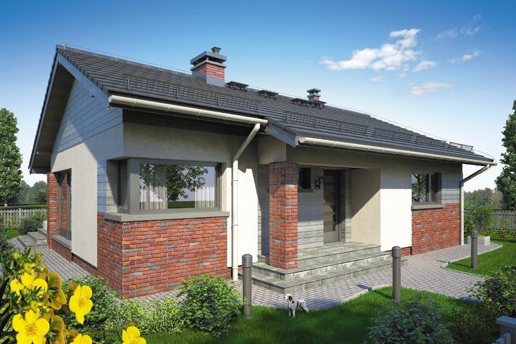 Проект одноэтажного дома с террасой «КО-106» - фото №1