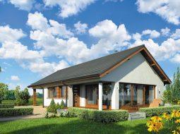 Проект одноэтажного дома с гаражом и террасой «КО-108»