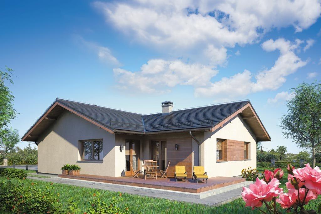 Проект одноэтажного дома с гаражом и террасой «КО-110» - фото №2