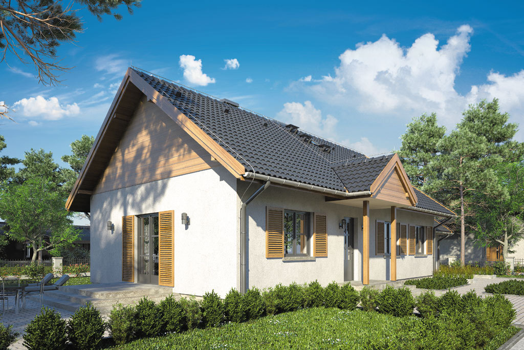 Проект одноэтажного дома с террасой и гаражом «КО-112» - фото №2