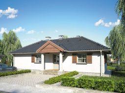 Проект одноэтажного дома с террасой «КО-114»