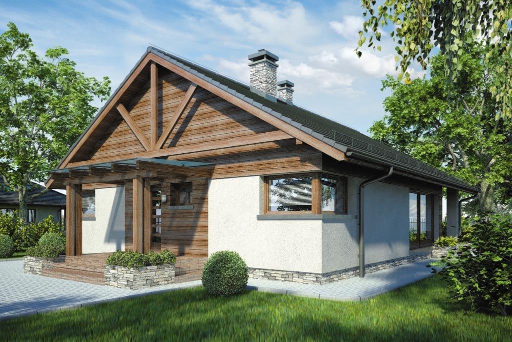 Проект одноэтажного дома с террасой «КО-79» - фото №1
