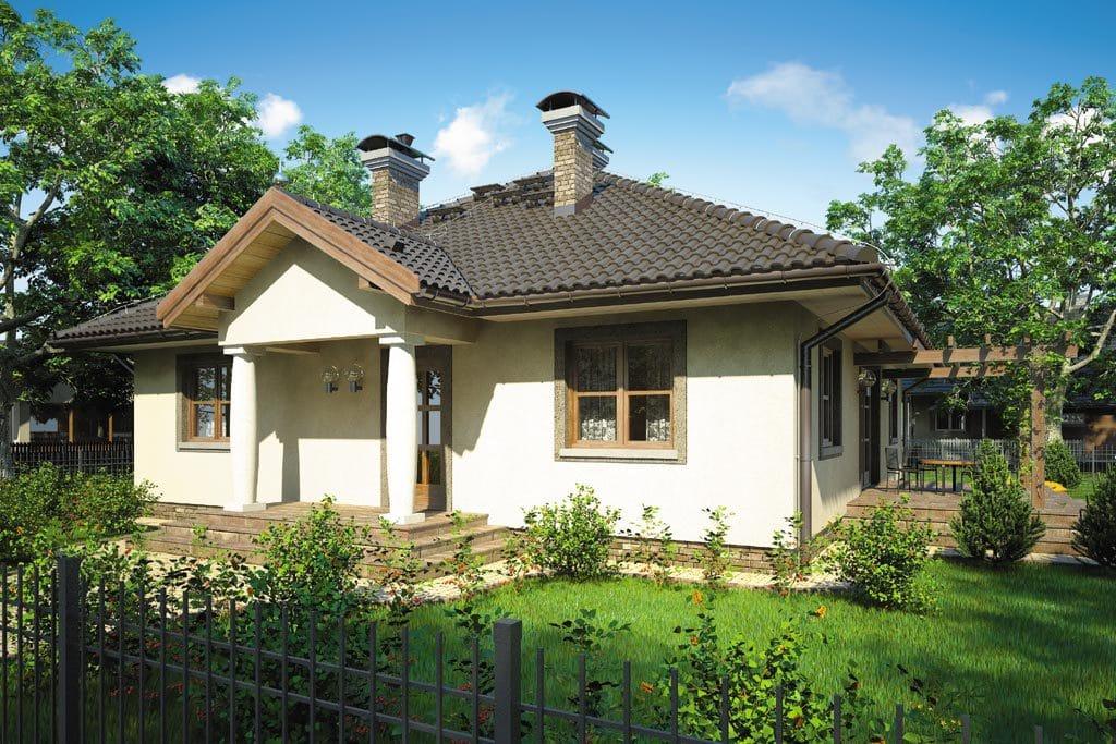 Проект одноэтажного дома с террасой «КО-84» - фото №1