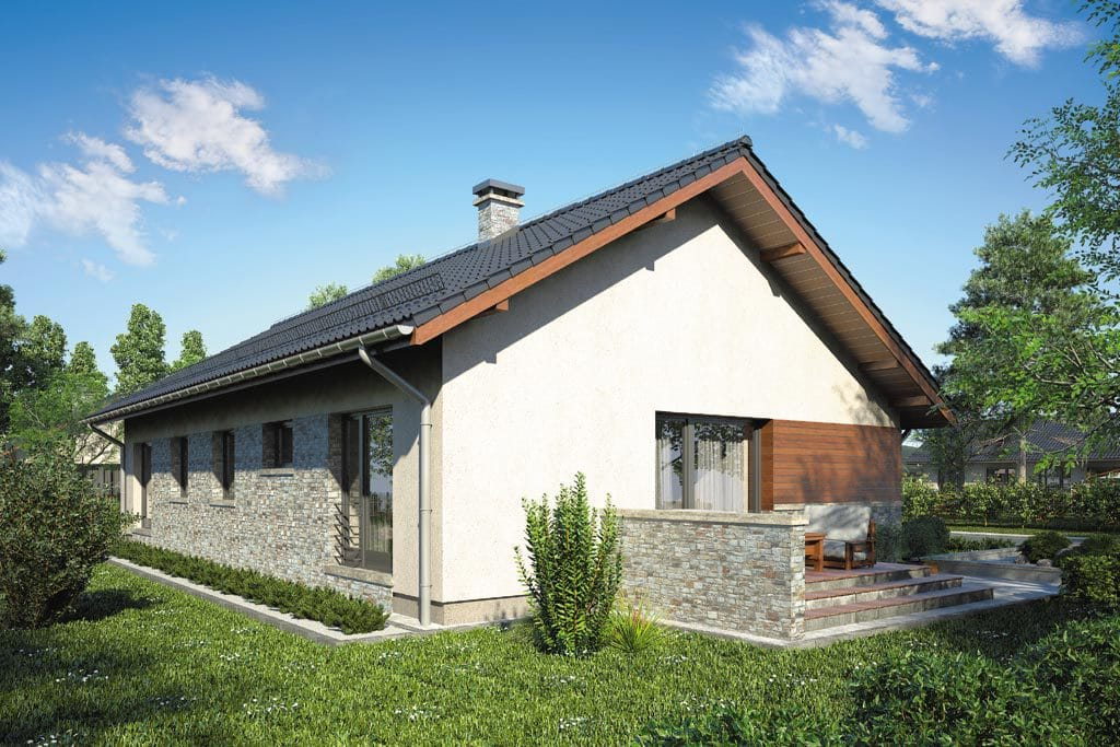 Проект одноэтажного дома с террасой «КО-85» - фото №2