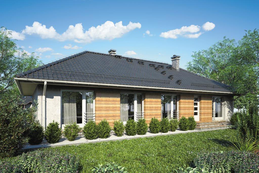 Проект одноэтажного дома с террасой «КО-86» - фото №2