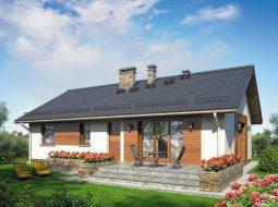 Проект одноэтажного дома с террасой «КО-87»