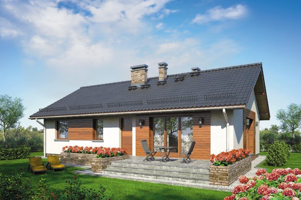 Проект одноэтажного дома с террасой «КО-87» - фото №2