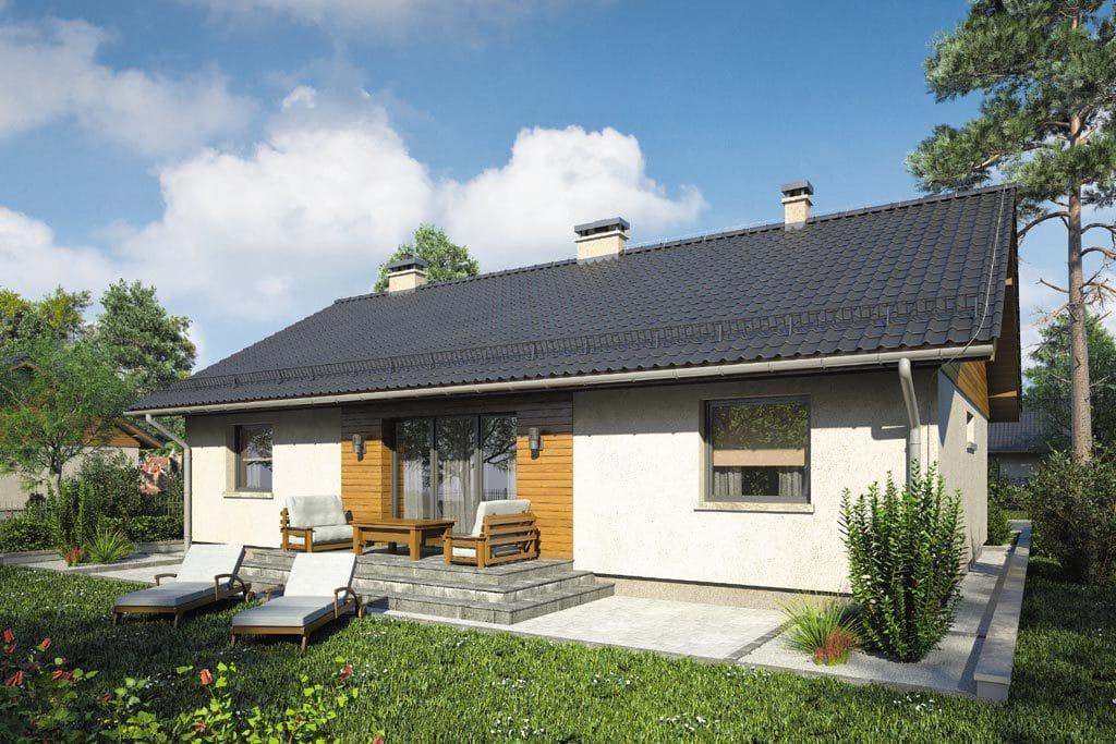 Проект одноэтажного дома с террасой «КО-88» - фото №2