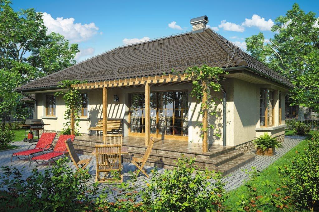 Проект одноэтажного дома с гаражом и террасой «КО-90» - фото №2