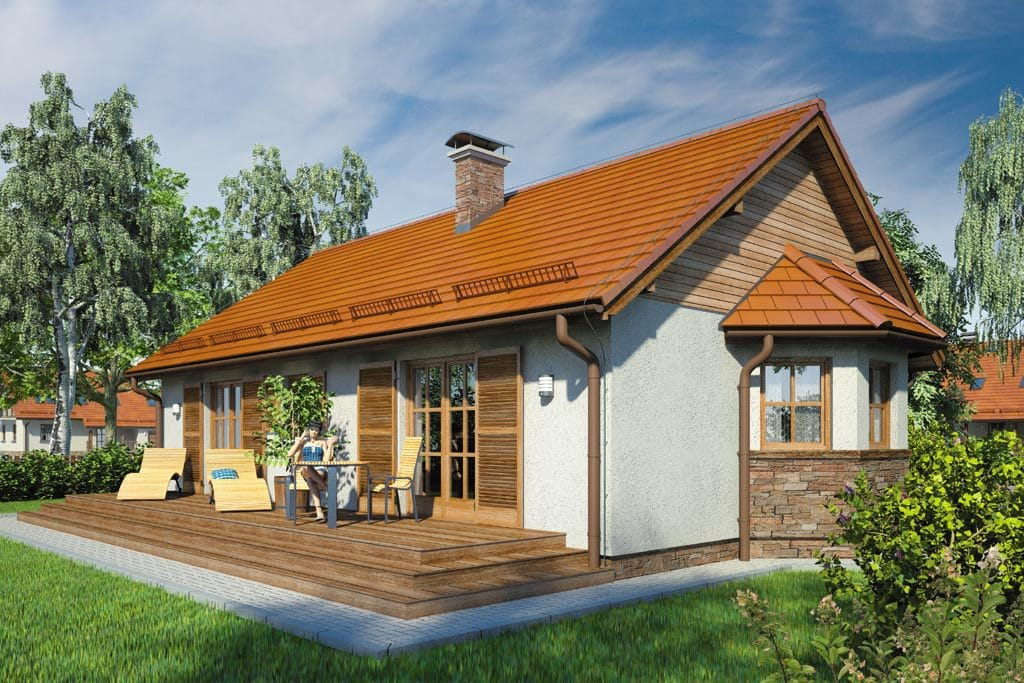 Проект одноэтажного дома с террасой «КО-94» - фото №2