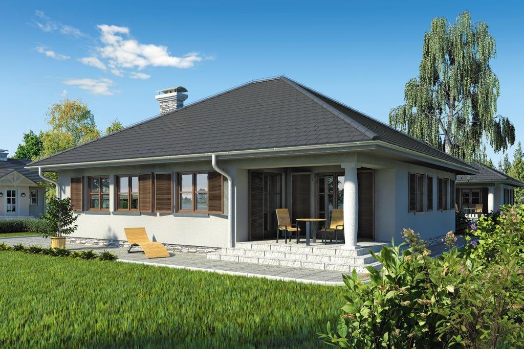 Проект одноэтажного дома с террасой «КО-77» - фото №2