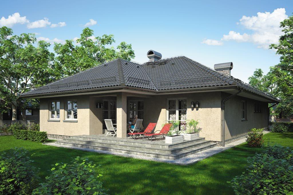 Проект одноэтажного дома с гаражом и террасой «КО-96» - фото №2