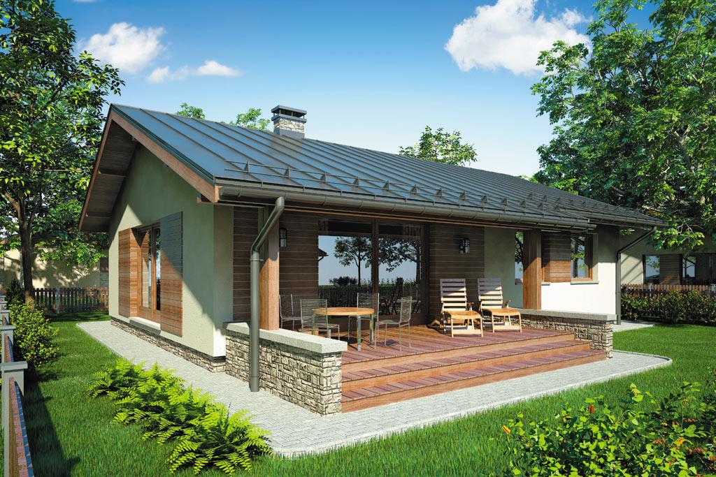 Проект одноэтажного дома с террасой «КО-97» - фото №2
