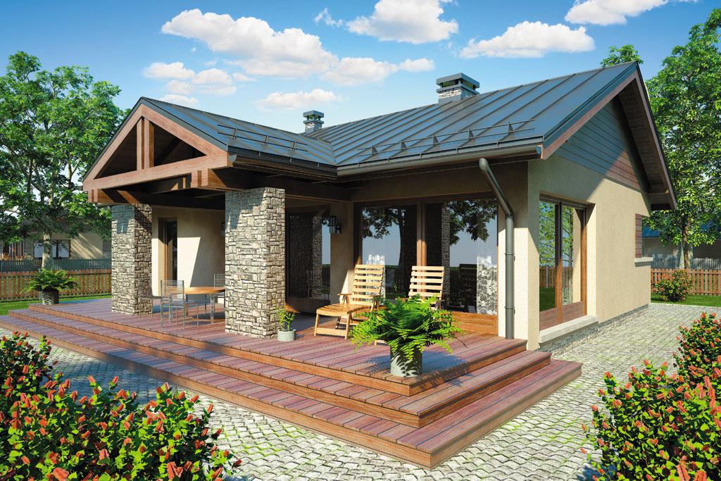Проект одноэтажного дома с террасой «КО-98» - фото №2