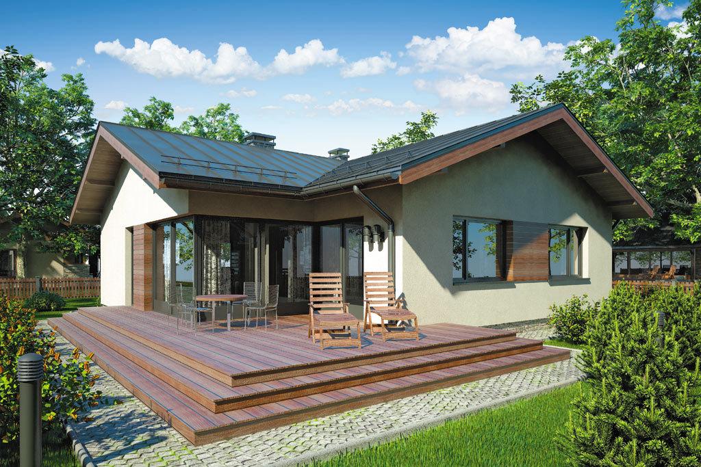 Проект одноэтажного дома с террасой «КО-99» - фото №2