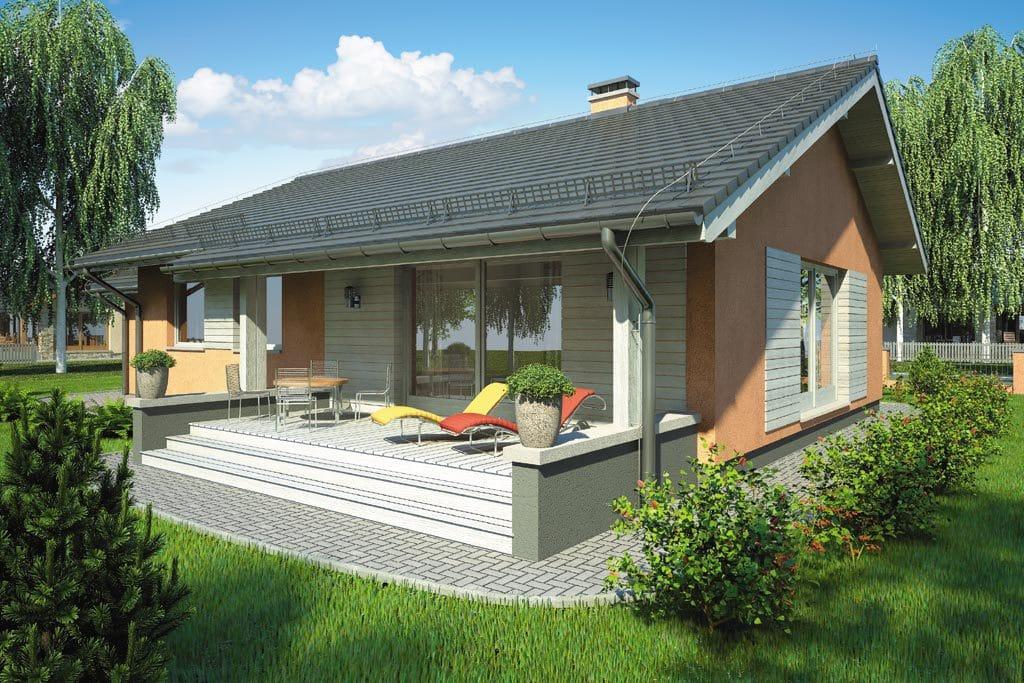 Проект одноэтажного дома с гаражом и террасой «КО-100» - фото №2