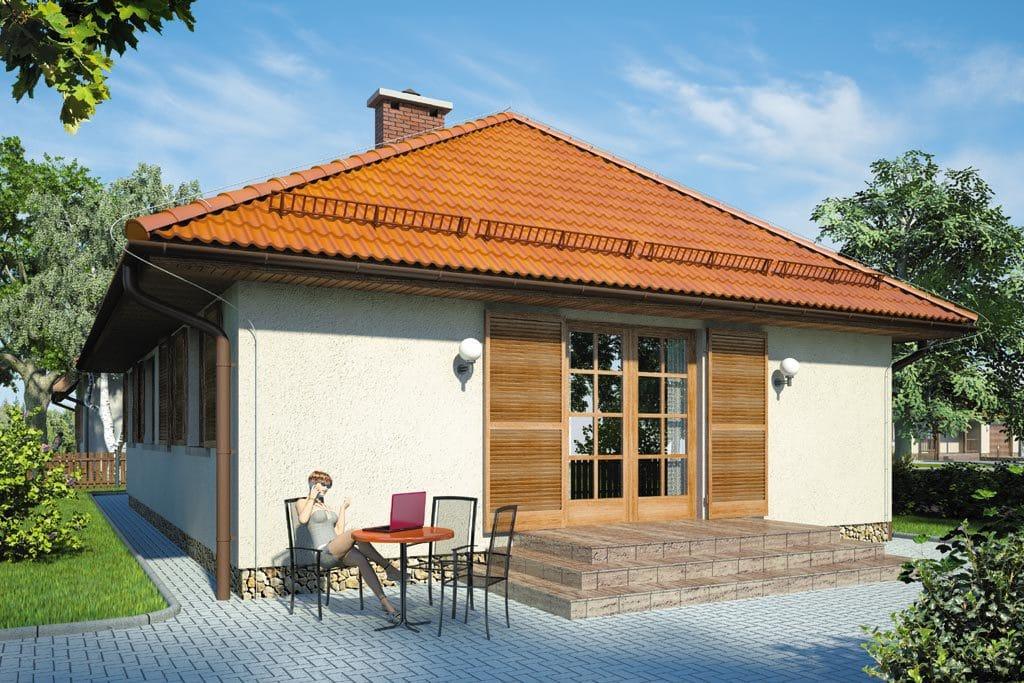 Проект одноэтажного дома с гаражом и террасой «КО-101» - фото №2