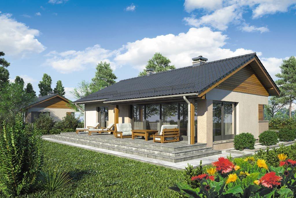 Проект одноэтажного дома с террасой «КО-102» - фото №2