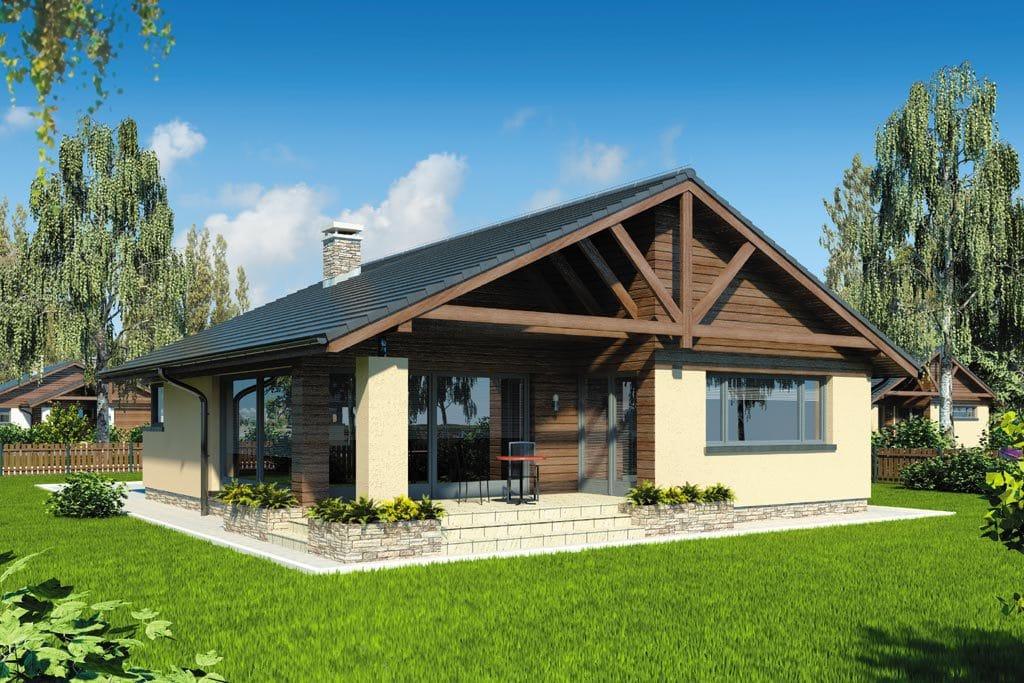 Проект одноэтажного дома с гаражом и террасой «КО-103» - фото №2