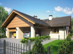 Проект одноэтажного дома с гаражом и террасой «КО-104»