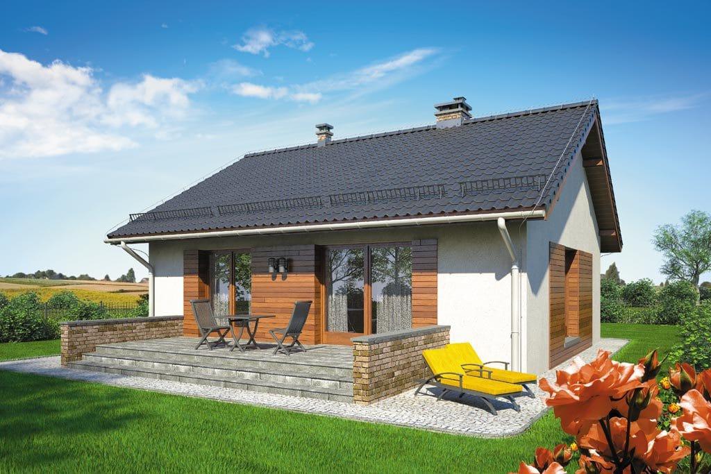 Проект одноэтажного дома с террасой «КО-105» - фото №2