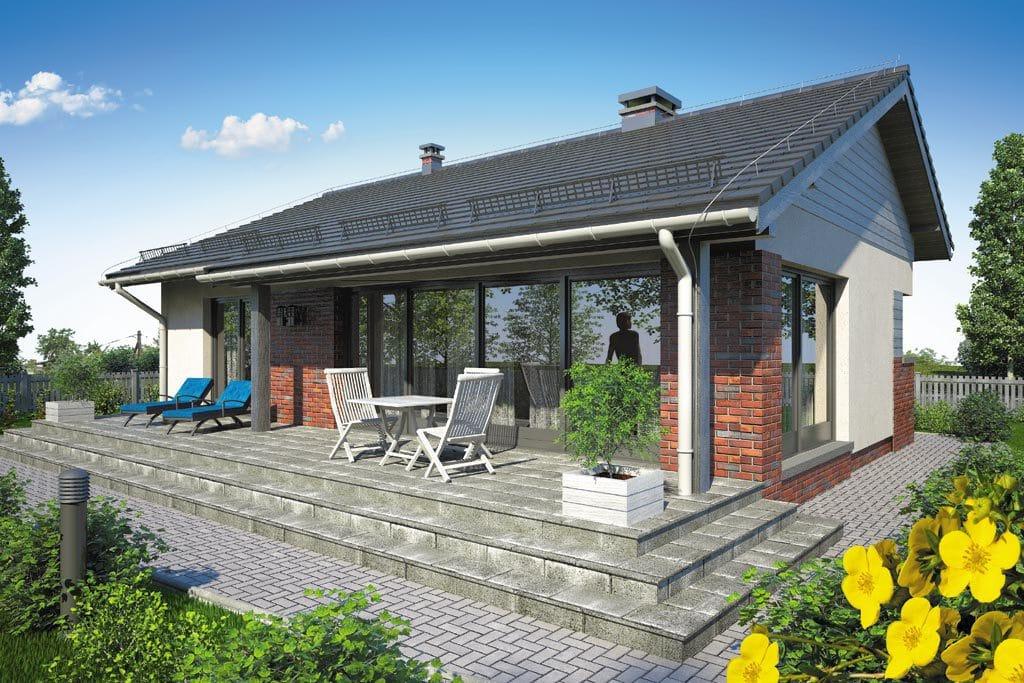 Проект одноэтажного дома с террасой «КО-106» - фото №2
