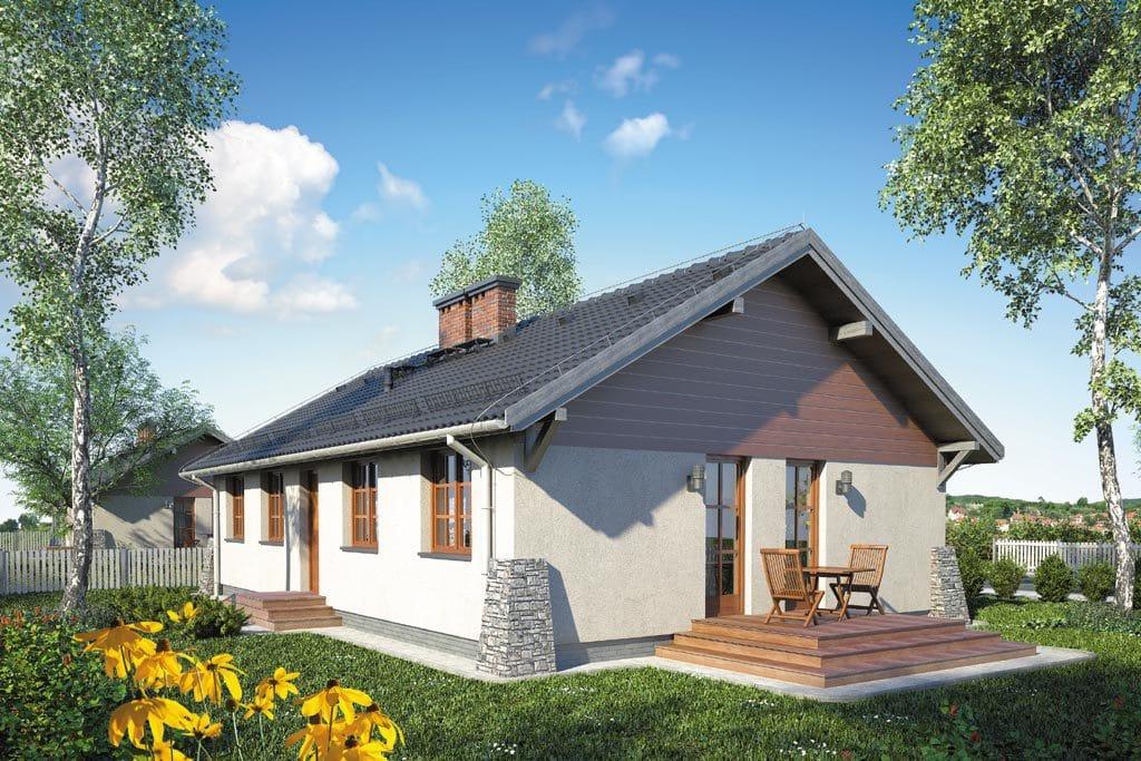 Проект одноэтажного дома с террасой «КО-107» - фото №2