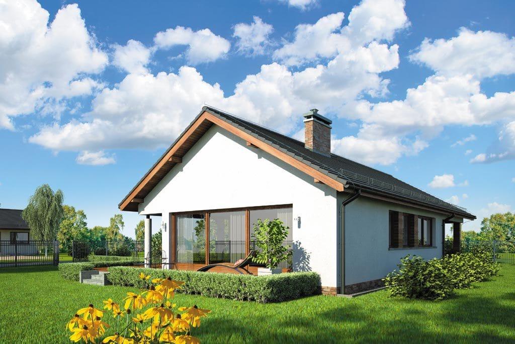 Проект одноэтажного дома с гаражом и террасой «КО-108» - фото №2