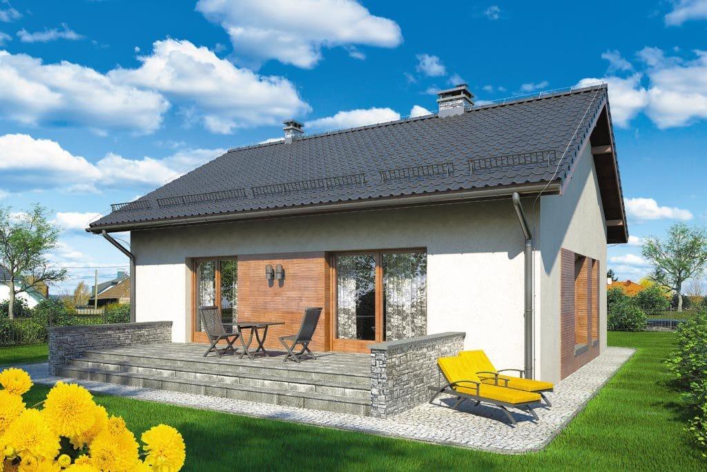 Проект одноэтажного дома с террасой «КО-109» - фото №2