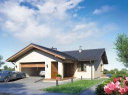 Проект одноэтажного дома с гаражом и террасой «КО-110»