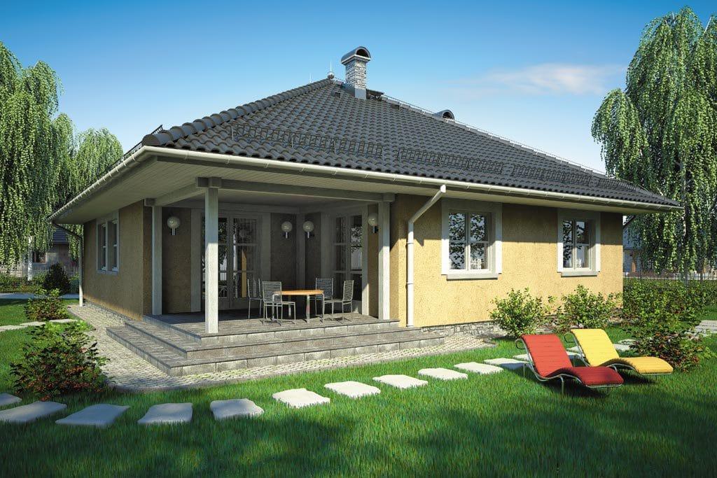 Проект одноэтажного дома с террасой «КО-111» - фото №2